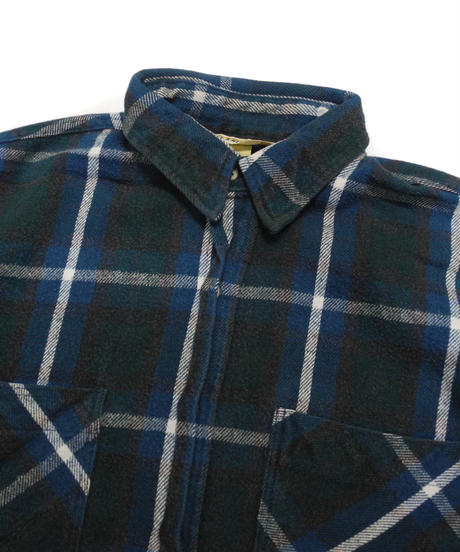 90's St.John's Bay Plaid Longsleeve Flannel shirt[C-212]