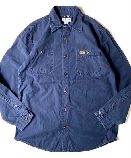 90s Carhartt L/S Canvas Shirts Navy
