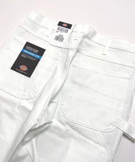 Dickies Double Knee Work Painter Pants White
