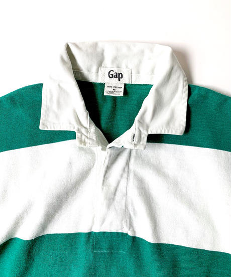 90s Gap Long Sleeve Stripe Rugby Shirt