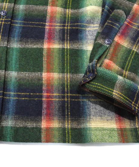 90's Polo Ralph Lauren Plaid Wool shirt[C-235]