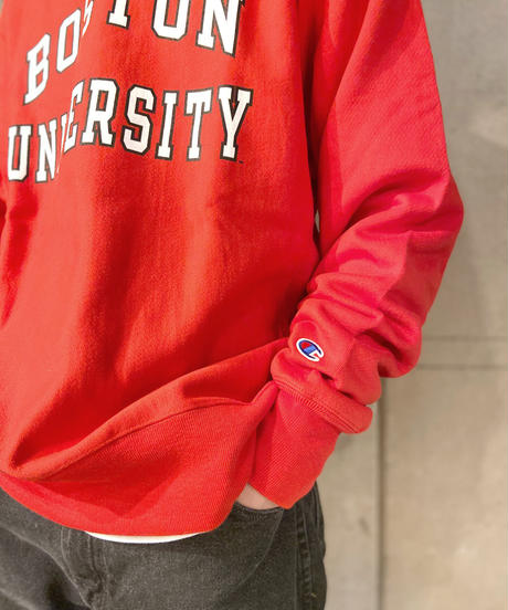 Boston University Reverse Weave Crewneck Sweat Shirts