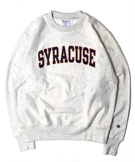 "CHAMPION REVERSE WEAVE SWEAT SHIRT ""Syracuse"" GREY  【Front Print Only】"