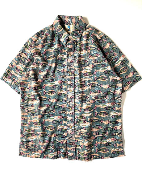 Kahala Fish Pattern Shortsleeve Shirt
