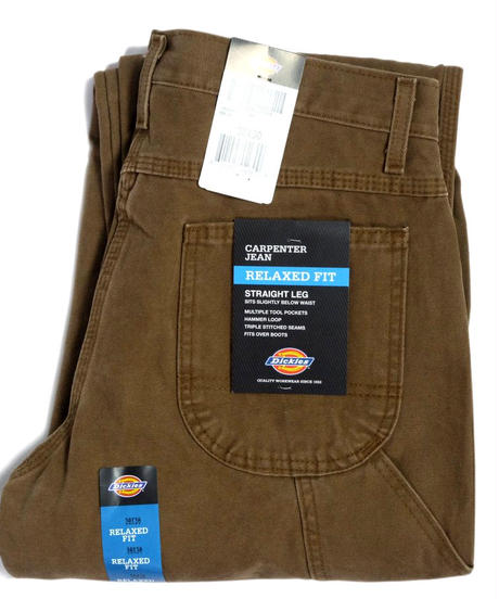 Dickies Relaxed Fit Straight Leg Carpenter Duck Jeans Timber Brown (RTB)