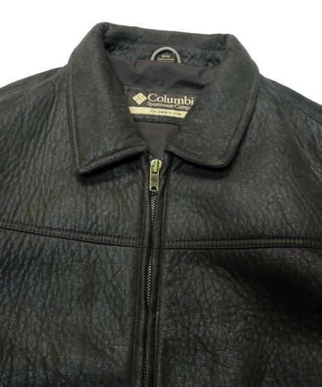 00's Columbia Fake  Leather Jacket  [C-0179]