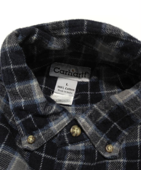 90's Carhartt Plaid Flannel shirt[C-222]