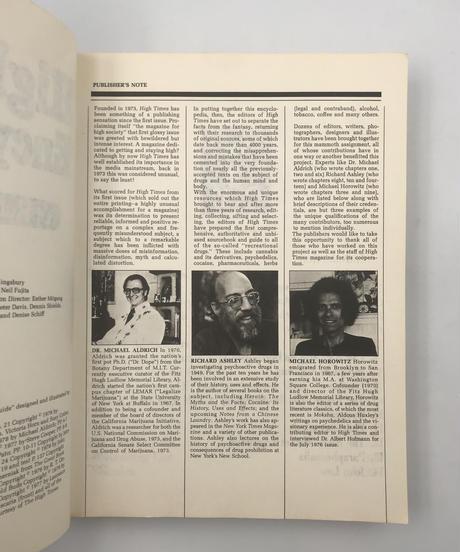 Title/ High Times Encyclopedia  Author/ Robert Kingsbery