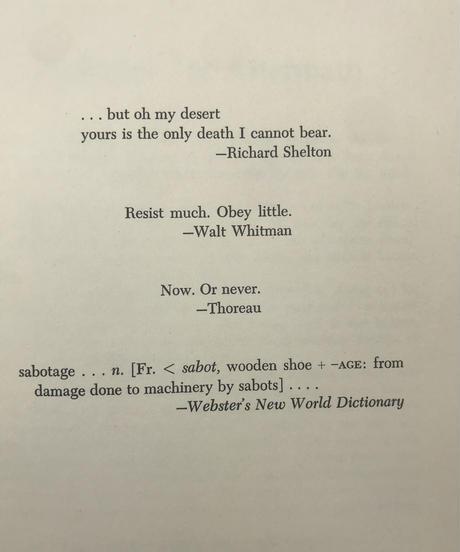 Title/ The Monkey  Wrench Gang Author/ Edward  Abbey
