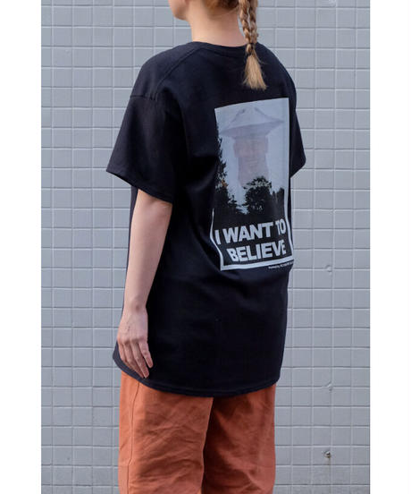 flying soy saucer / I want to believe over Tee