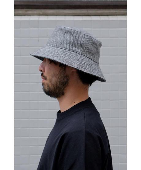 ULTERIOR / LINEN HAKEME TWEED RV HAT / col.BLACK×T.GRAY