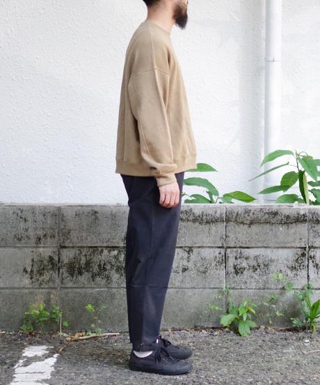 THE HINOKI / コットン馬布 テーパードイージーパンツ / col.ブラック