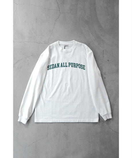SEDAN ALL PURPOSE / Arch Logo L/S Tee / col.White