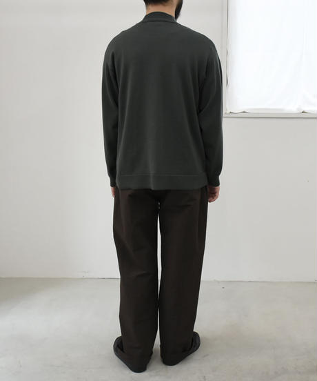 bunt /  12G MOCK NECK SWEATER / col.カーキ / size 3