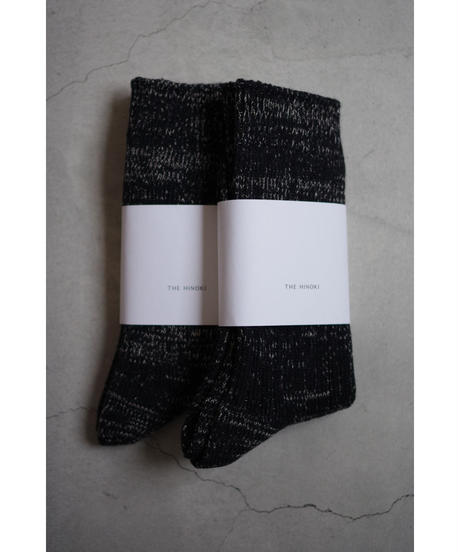 THE HINOKI / Organic Cotton Linen Rib Socks