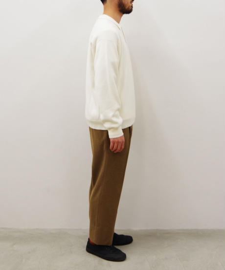 bunt / L/S KNIT POLO SHIRTS / col.オートミール