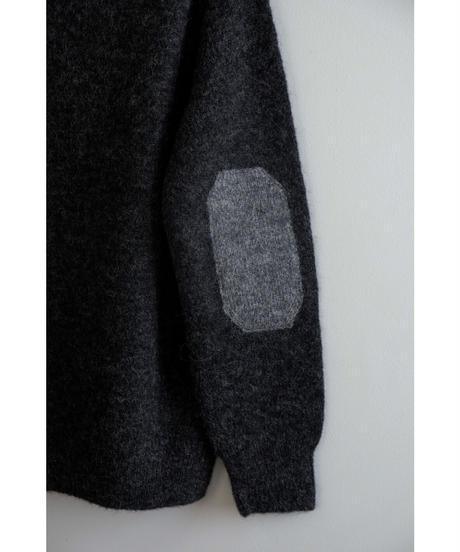comm.arch. / Hand Framed Alpaca Wool P/O / col.COALMINE