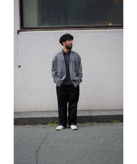 ULTERIOR / TWISTED CHAMBRAY GABARDINE OVER SHIRT / col.CASTOR GRAY