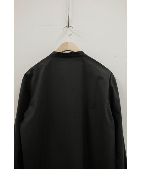 THE HINOKI / Cotton Parachute Cloth Stand Up Collar Shirt / col.BLACK