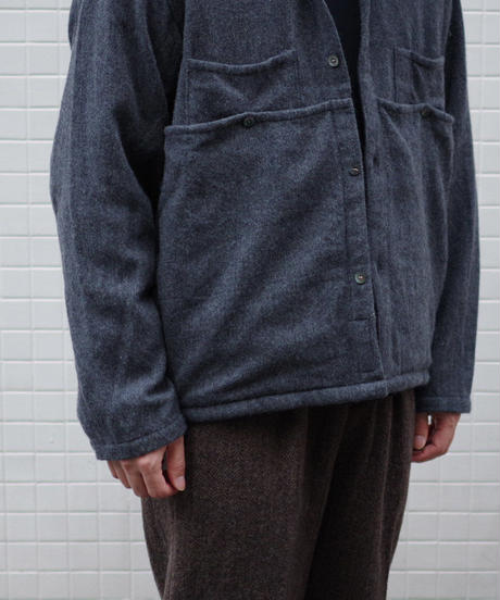 ENDS and MEANS / EM Work Shirts / col.グレー / size.L