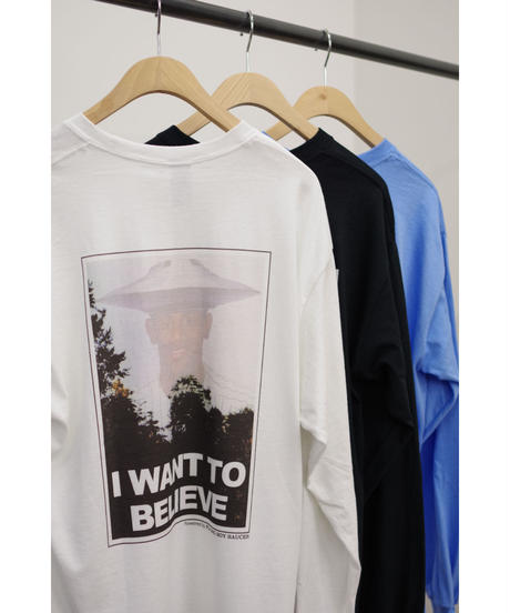flying soy saucer / I want to believe over Long Sleeve Tee