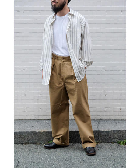 ULTERIOR / BIZEN No'1 TWILL TUCKED MILITARY PANTS / col.BEIGE / size.4