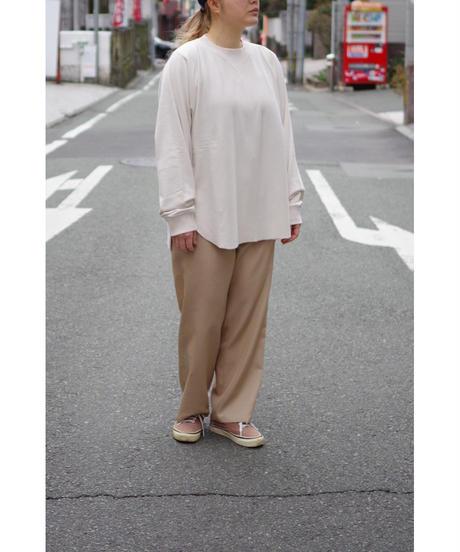Blanc YM / S/W Royal Oxford Easy Pants / col.BEIGE / Lady's