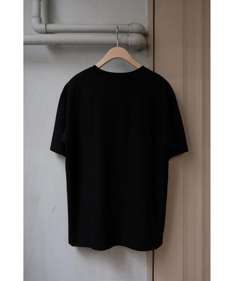 comm.arch. / DOUBLE LAYERED S/S TEE / col.BLACKOUT