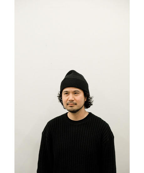 YOKO SAKAMOTO / KNIT HAT / col.BLACK