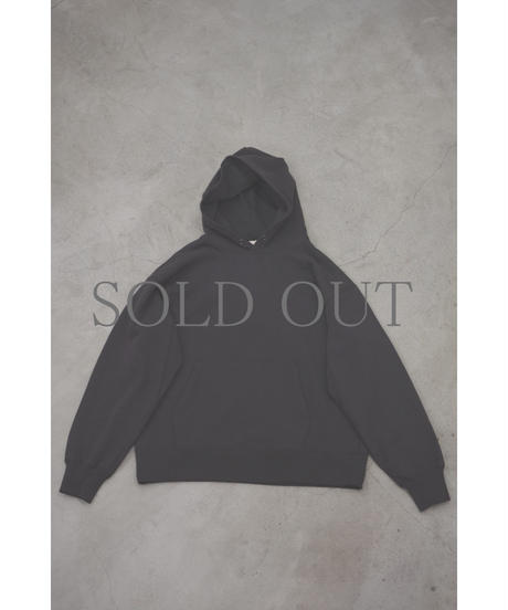 ULTERIOR / DRY FEEL SOFT TERRY HOODIE / col.SUMI