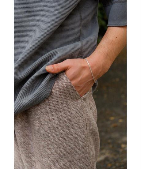 ULTERIOR / LINEN HAKEME TWEED DRAWSTRING PANTS / col.AZUKI