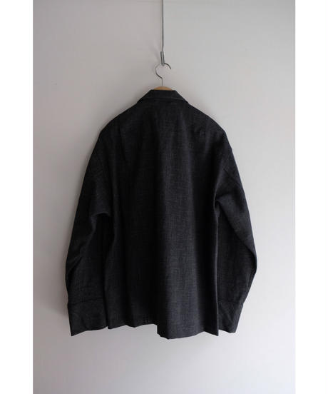 20AW ULTERIOR / BRUSHED SLUB TWEED OVER SHIRT / col.CHARCOAL / size.4