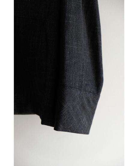ULTERIOR / BRUSHED SLUB TWEED OVER SHIRT / col.CHARCOAL / size.4