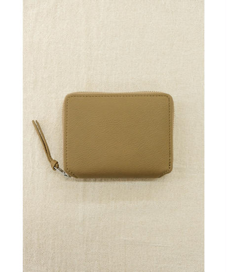 ERA. / BUBBLE CALF ROUND PLAM WALLET / col.TAUPE