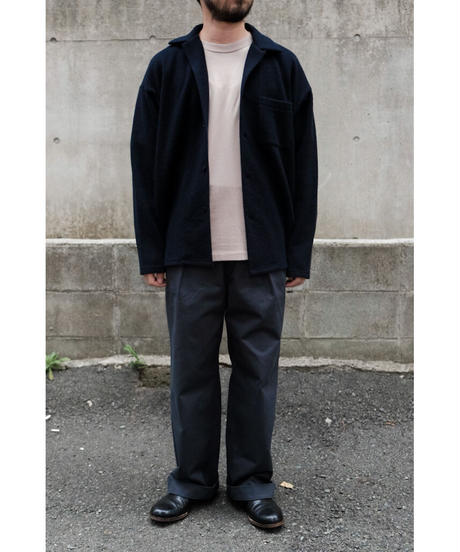 BlancYM / Wool Fleece Shirt / col.NAVY