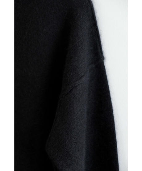 YOKO SAKAMOTO / RACCOON WOOL MOCK NECK KNIT / col.BLACK / Lady's