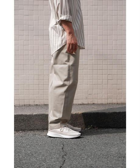 THE HINOKI / Organic Cotton Chino Cloth OSFA Pants / col. Beige / size.4