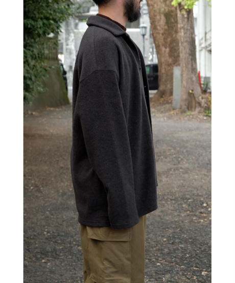 BlancYM / Wool Fleece Shirt / col.GRAY