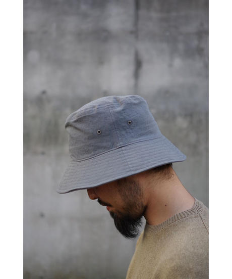 ULTERIOR / TWISTED CHANBRAY GABARDINE BUCKET HAT / col.CASTOR GRAY