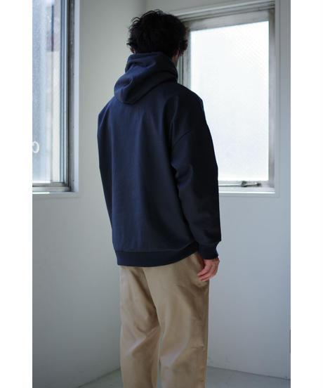Blanc YM / Coating Sweat Parka / col.BLACK