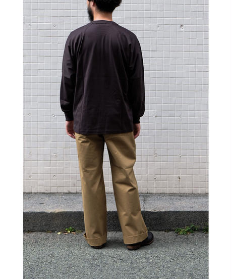 20AW ULTERIOR / SUVIN COTTON L/S POCKET TEE / col.FOGGY BLACK