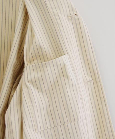 THE HINOKI / コットン馬布クロス パジャマコート(ストライプ)