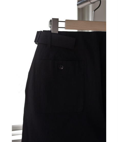 THE HINOKI / コットン馬布 OSFAワイドハーフパンツ / col.BLACK / Lady's