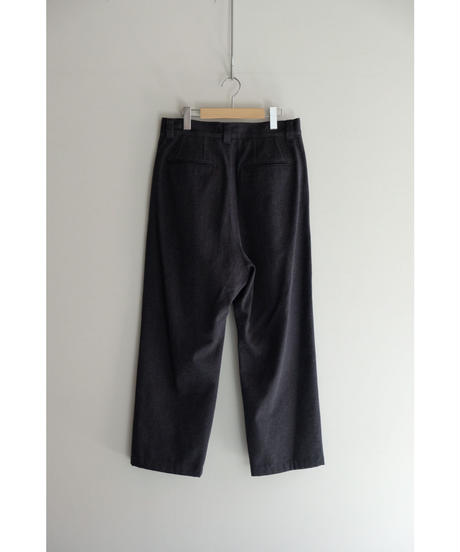 Blanc YM / Wool Wide Denim Pants / col.Navy