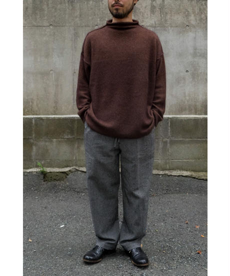 ENDS and MEANS / W/L Relax Fit Trousers / col.BLACK / size.S