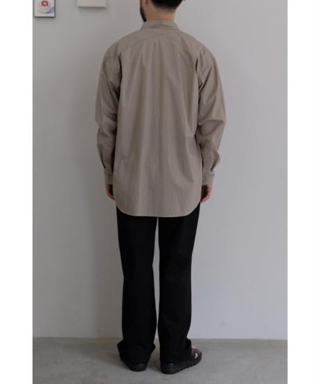 ULTERIOR / OVERLAID STANDARD SHIRT  / col.GRAY MOCHA / size.5