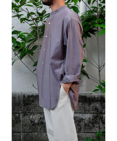 un/unbient / スタンドカラーシャツ / col.gravish brown