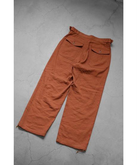 ULTERIOR / S/L SHABBY TWILL PANTS / col.RUST
