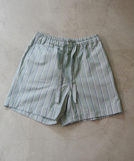 bunt / STRIPE EASY SHORTS / col.グリーン