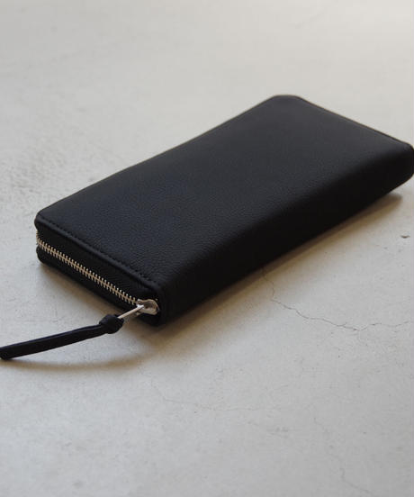 ERA. / BUBBLE CALF ROUND SLIM WALLET / col.ブラック